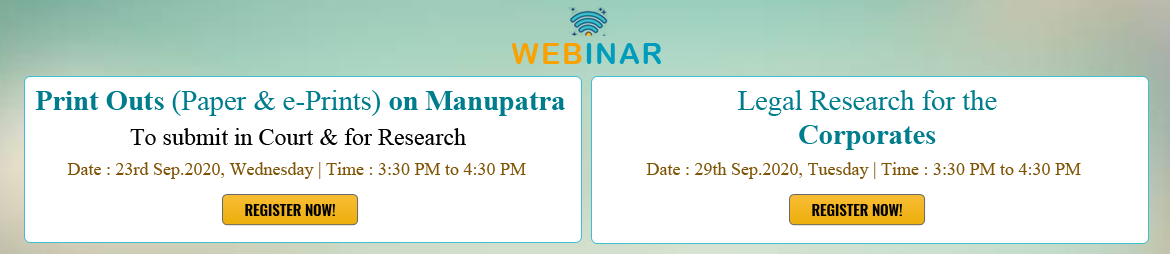 Manupatra Upcoming Webinar Series